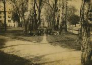 Students sitting in Lovers' Lane, c.1890