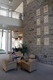 Waidner-Spahr Library clock wall, 2006