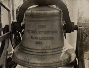 Bell in West College cupola, c.1890