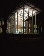 Waidner-Spahr Library at night, c.2000