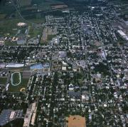 Aerial view of campus, 1981