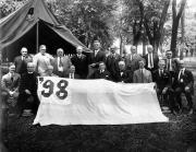 Alumni hold the '98 banner