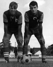Two Soccer players, 1966