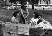 African American Society & Latin American Club table, 1990