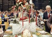 Alumni Weekend buffet table, 1970