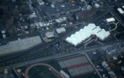 Aerial view of campus athletic facilities, 1993