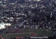 Aerial view of campus, 1989