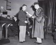 Tom Beckley at Commencement, 1955