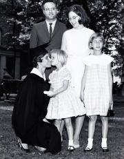 Josie Prescott Campbell at Commencement, 1965