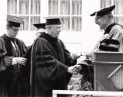 Rolland Adams receives Honorary degree, 1966