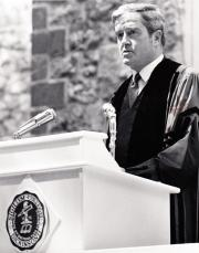 Kingman Brewster at Commencement, 1969