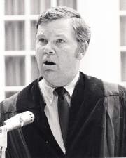 Thomas Wicker speaks at Commencement, 1970