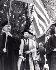 Academic procession at Commencement, 1972