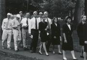 White and Blue Hats at Convocation, 1993