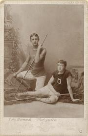 Two Lacrosse players, 1900