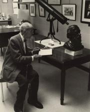 Boyd Lee Spahr in May Morris Room of the Library, 1967