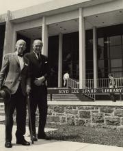 Boyd Lee Spahr with President Rubendall, 1967