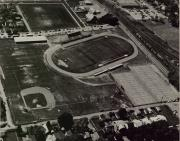 Aerial view of Biddle Field, c.1975