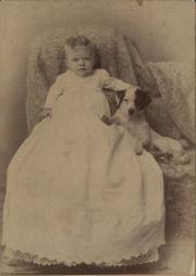 Zatae Longsdorff with dog, 1866