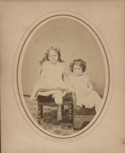 Zatae Longsdorff with sister, c.1875