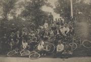 Zatae Longsdorff on a bicycle outing, c.1890