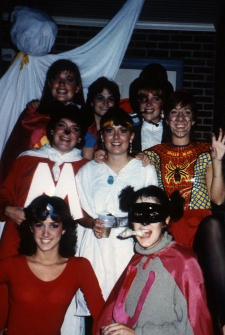 Amazing Students In Halloween Costumes, C.1985