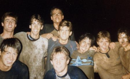 Covered in mud, c.1988