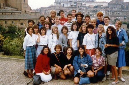 Dickinson students on study abroad program, c.1991