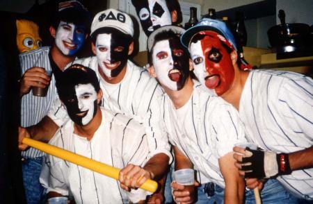 Boys wear face-paint, c.1991