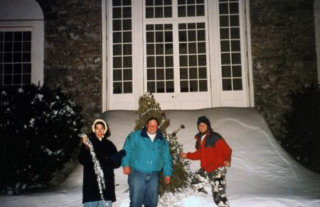 Christmas tree decorating, c.1994