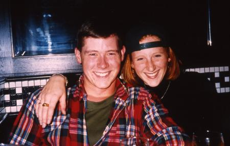 Couple smiles, c.1994