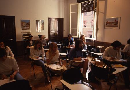 Class at the Dickinson Center, 1994