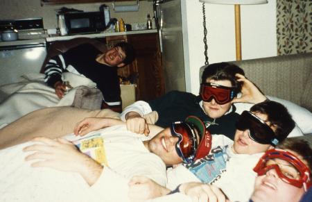 Boys wear ski goggles, c.1995
