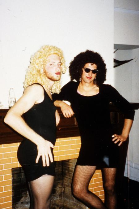 Boys dressed as women, c.1995