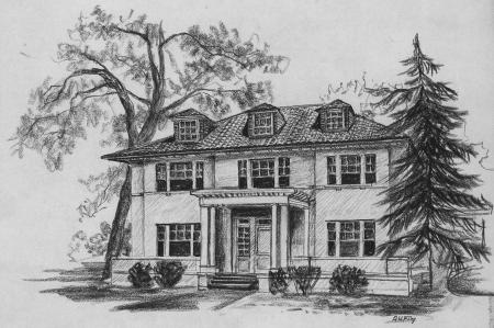 Alpha Chi Rho house, 1963