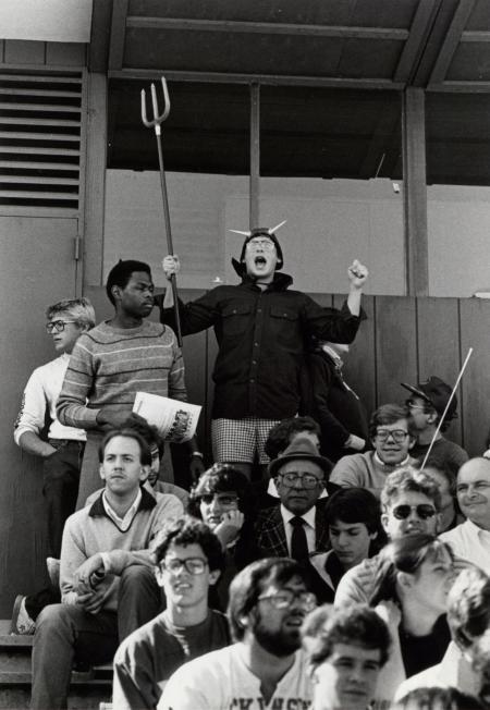 Crowd at Homecoming Football game, 1983