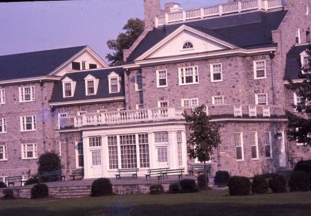 Drayer Hall porch, c.1960