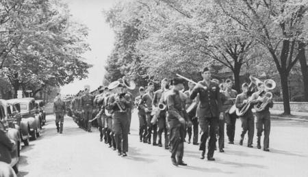 32nd College Training Detachment parade, 1944