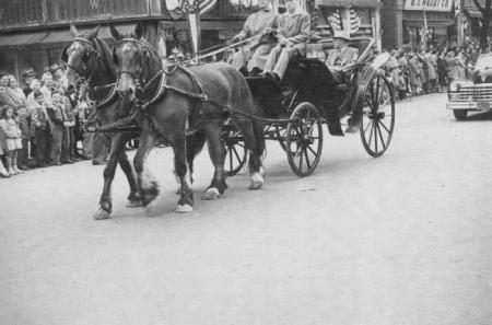 A Horse-Drawn Carriage in the 175th Anniversary Parade, 1948