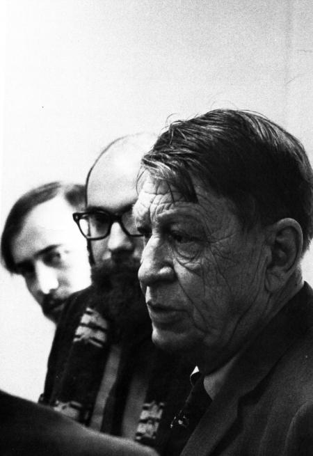 Arts Award recipient W. H. Auden at Chapel, 1968