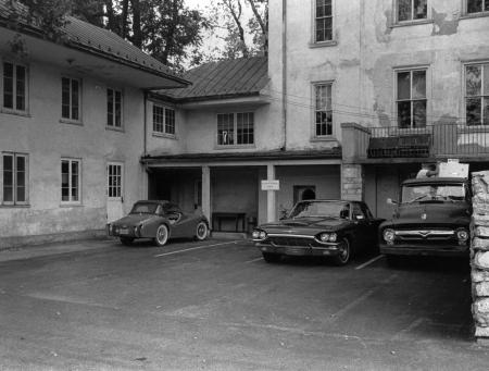 Baird Biology Building parking lot, c.1965