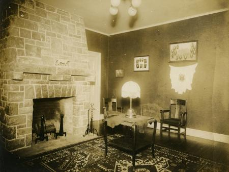 Phi Kappa Psi House Interior C 1910 Dickinson College
