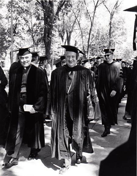 Academic Procession at Commencement, 1977