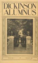 Dickinson Alumnus, September 1935