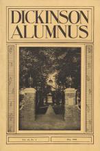 Dickinson Alumnus, May 1936