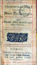 Animadversiones In Libros Novi Testamenti