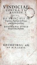 Vindiciae Contra Tyrannos: Sive, De Prinicipis In Populum...