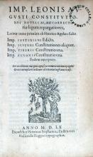 Constitvtiones Novellae, aut Correctoriae legum repurgationes...