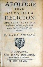 Apologie povr Cevx De La Religion. Svr Les Sviets D'Auersion...