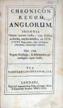 Chronicon Regum Anglorum, Insignia Omnia eorum Gesta...
